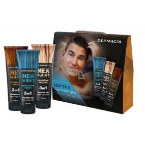 Dermacol Men Agent 3v1 sprchový gel 3 x 250 ml, kosmetická sada
