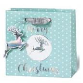 BSB Luxusná darčeková papierová taška 14,5 x 15 x 6 cm Vianočné VDT 430 - CD