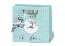 BSB Luxusné vianočné darčeková papierová taška 14,5 x 15 x 6 cm VDT 430 - CD