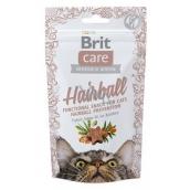 Brit Care Cat Snack Hairball Kacgna maškrtu polomäkké doplnkové krmivo 50 g