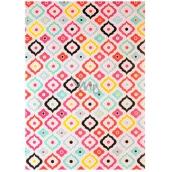 Ditipo Balicí papír růžový podklad, barevné vzory 2 m x 70 cm