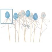 Vajíčko plastové zápich 4 cm + špejle modré 1 kus