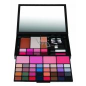 Body Collection Mirrorr PALLET veľká kozmetická make-up kazeta v čiernom puzdre