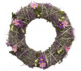 Veniec prepletanie s levanduľovým dekorom 32 cm