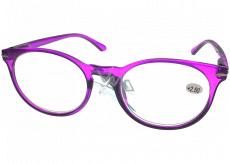 Berkeley Čítacie dioptrické okuliare +1,5 plast fialovej, okrúhle sklá 1 kus MC2171