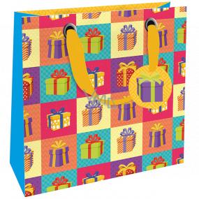 Nekupto Darčeková papierová taška luxusné 23 x 23 x 10 cm 1870 LIM