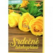 Nekupto Prianie všeobecné Žlté ruže 115 x 170 mm 3567 F
