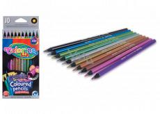 Colorino Pastelky okrúhle metalické, 10 farieb