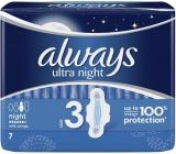 Always Ultra Night hygienické vložky s krídelkami 7 kusov