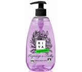 Riva Rozmarýn a Fialky antibakteriální tekuté mýdlo dávkovač 500 g