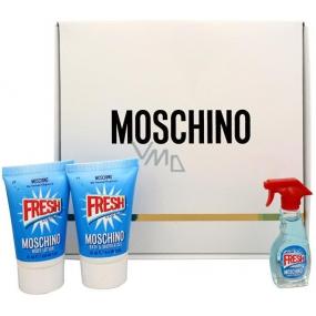 Moschino Fresh Couture toaletná voda 5 ml + sprchový gél 25 ml + telové mlieko 25 ml, darčeková sada