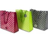 RSW Nákupná taška s potlačou Bodky bordó 43 x 40 x 13 cm