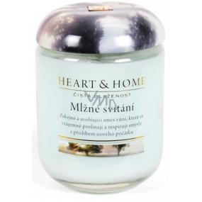 Heart & Home hmlovej svitania Sójová vonná sviečka strednej horí až 30 hodín 110 g