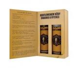 Bohemia Gifts Gentleman Olivový olej sprchový gél 200 ml + šampón na vlasy 200 ml, kniha kozmetická sada