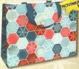Nekupto Darčeková papierová taška s razbou veľká 30 x 23 x 12 cm Vianočný 1739 WLFL