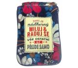 Albi Skladacia taška na zips do kabelky s nápisom Život je nádherný rozmer: 42 cm × 41 cm × 11 cm