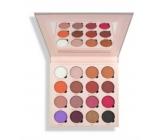 Makeup Obsession paletka mix 16 pigmentovaných očných tieňov, z toho 7 matných, 6 lesklých a 2 matné s trblietkami odtieň Belle Jorden 20,8 g