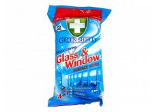 Green Shield Glass & Window 4v1 na okná a sklenené povrchy antibakteriálne čistiace vlhčené obrúsky 70 kusov