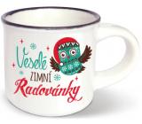 Nekupto Mini hrnček Veselé zimné radovánky 80 ml