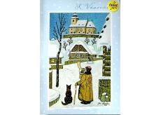 Albi Hracie prianie do obálky Josef Lada K Vianociam Tichá noc Karel Gott 14,8 x 21 cm