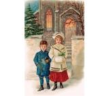 Bohemia Gifts Aromatická vonná karta Vianočný večer Vianoce Arktická svieža vôňa 10,5 x 16 cm