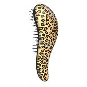 Dtangler Detangling Brush Kartáč pro snadné rozčesání vlasů 18,5 cm Leopard Yellow