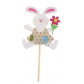 Zajačik z filcu zápich 8 cm + špajle béžový