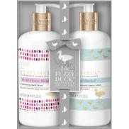 Baylis & Harding Lesní zvonek a Květinová louka tekuté mýdlo na ruce 300 ml + mléko na ruce a tělo 300 ml, kosmetická sada