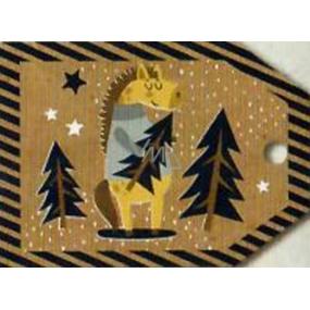 Nekupto Vianočné kartičky na darčeky kôň 5,5 x 7,5 cm 6 kusov