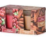 Emóciám Wild Cranberry & Cinnamon Stick - Divoká brusnica a škorice vonná sviečka sklo 52 x 65 mm 2 kusy v krabičke
