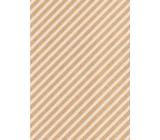 Ditipo Darčekový baliaci papier 70 x 200 cm KRAFT biele pruhy