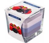 BISPOL Forest Fruits - Lesné ovocie trojfarebná vonná sviečka sklo, doba horenia 32 hodín 170 g