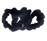 Gumičky do vlasov textilné čiernej 7 cm 3 kusy
