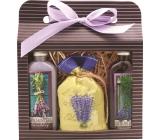 Bohemia Herbs Lavender La Provence Sprchový gel 100 ml + Olejová lázeň 100 ml + Koupelová sůl 150 g, kosmetická sada