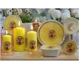 Lima Citronela svíčka proti komárům vonná repelentní žlutá válec 50 x 100 mm
