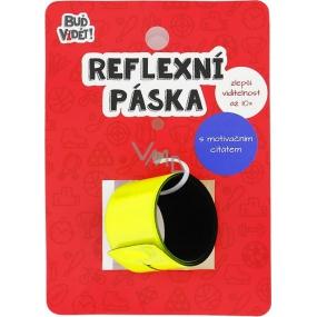 Albi Buď vidět! Reflexní pásek John Bingham Žlutý, zvýší viditelnost až 10x