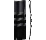 Duko Vlasové spony čierna 5 cm 10 kusov 525B