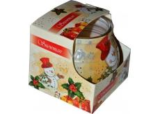 Admit Snowman aromatická sviečka v skle 80 g