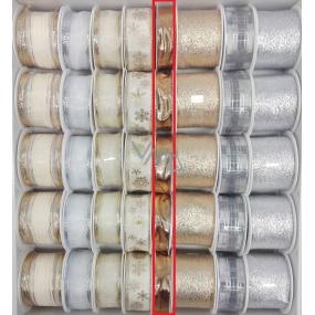 Ditipo Stuha látková s drôtikom zlatá 4 mx 15 mm