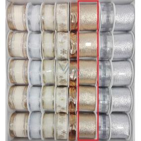 Ditipo Stuha látková s drôtikom zlatá 2 mx 40 mm
