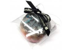 Fragrant Black Glycerinové mýdlo masážní s houbou naplněnou vůní parfému Tom Ford - Noir v barvě černo-červené 200 g