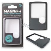 If magnify-i Lupa s ľad svetlom 2 x alebo 4 x zväčšenie