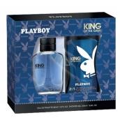 Playboy King of the Game toaletná voda pre mužov 60 ml + sprchový gél 250 ml, darčeková sada