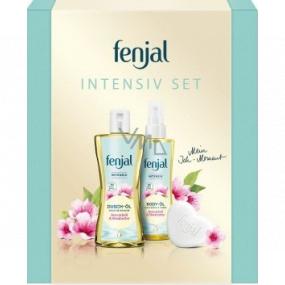 Fenjal Intensive sprchový olej pre ženy 225 ml + telový olej 145 ml + tuhé mydlo 90 g, kozmetická sada