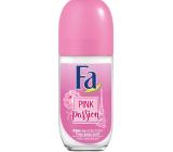 Fa Pink Passion Pink Rose Scent 48h guličkový dezodorant roll-on pre ženy 50 ml