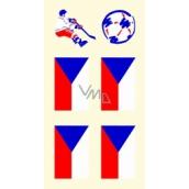 Arch Tetovacie obtlačky na tvár i telo Slovenská vlajka 1 motív