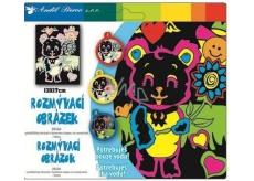 Rozmývací obrázok medvedík 17 x 13 cm