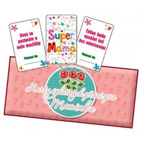 Bohemia Gifts & Cosmetics Karty splnených prianí pre mamičku 20 kusov kariet