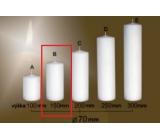 Lima Gastro hladká sviečka biela valec 70 x 150 mm 1 kus