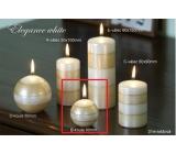Lima Elegance White svíčka béžová koule 60 mm 1 kus